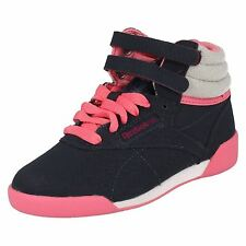 Girls Reebok hi top Navy/pink/white trainers style COZY CRAZE
