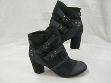 Ladies Coco blue synthetic suede ankle boots