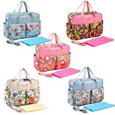 Baby Diaper Nappy Changing Bags Mummy Handbag Antibacterial Water Resistant F1L7