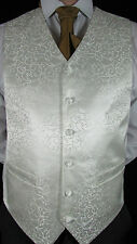 Mens NEW Ivory Patterned Wedding suit waistcoat various sizes available