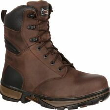 "NEW Mens Rocky 8"" Forge Steel Toe Waterproof Brown Work Safety Boots  RK022"
