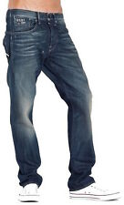 G-Star Jeans Structor Straight Aged Wash Loose Fit Straight Leg Spike Denim
