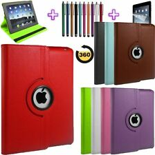 360 Degree Rotatable Leather Case Cover For iPad 4, 3, 2 with Sleep Wake