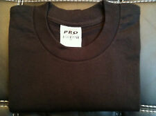 6 NEW PRO 5 PRO5 T-SHIRT SUPER HEAVY BLACK TEE PLAIN BLANK S-7XL 6PC