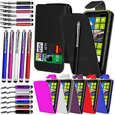 PU LEATHER FLIP CASE COVER, LCD FILM & 3 STYLUS PEN SET FOR NOKIA LUMIA 620