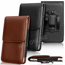 PU Leather Pouch Belt Holster Skin Case Cover For Vodafone Mobile Phones