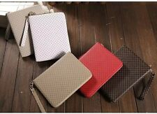 Faux Leather Portfolio Handbag+Smart Stand Case Cover+Top Zip For iPad Tablet