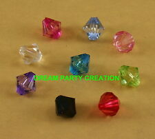 300 Faceted Lucite ACRYLIC BICONE Loose Beads 12MM CHOOSE COLOR BULK BUY !!!