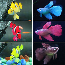 Fish Tank Aquarium Decor Underwater Floating Clownfish Ornament + Suction Cup