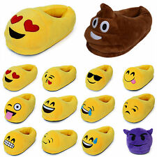 Fashion 3D Emoji Plush Stuffed Unisex Slippers Cartoon Home Indoor Shoes Slipper