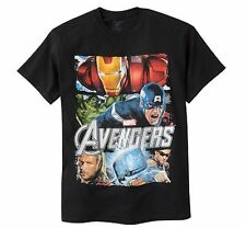 Marvel The Avengers Captain America Iron Man Hulk Short Sleeve T Shirt Men M XL