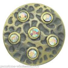 Wholesale Lots Snap Buttons Rhinestone Fit Snap Bracelets Bronze Tone K01369