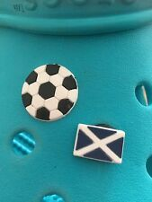 2 Scottish Football Shoe Charms For Crocs and Jibbitz Wristbands. Free UK P&P.