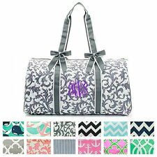 "Personalized Monogram 21"" Quilted Duffle Bag Large Weekend Tote Gym Overnight"
