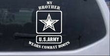My Brother Wears Combat Boots Army Car or Truck Window Laptop Decal Sticker