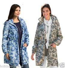 NEW LADIES WOMANS FLATTERING SHOWER JACKET RAIN MAC COAT PLUS SIZE 8-26 UK