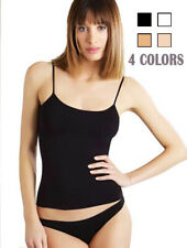 NWT 4 Pack Women's Cotton Camisole Spaghetti Strap Cami Tank Top-Assorted Colors