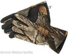 FLADEN REALTREE CAMO NEOPRENE GLOVES FISHING HUNTING SHOOTING CAMPING TRAPPING