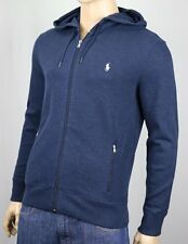 Polo Ralph Lauren Performance Blue Full Zip Hoodie Sweatshirt NWT