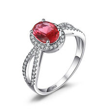 Unique Ladies Unique Pink Sapphire Ring Solid 925 Sterling Silver Size 6 7 8