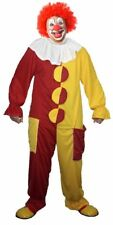 The Dragons Den Funny Red & Yellow Clown Fancy Dress Costume