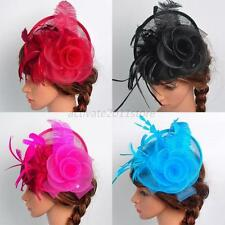 Ladies Womens Fascinator Hat Headwear Feather Cocktail Wedding Party Headpiece