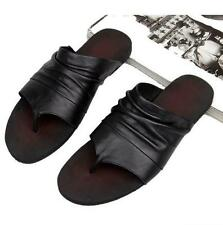 Men's gladiator flip flops genuine leather beach sandal slipper casual shoes new