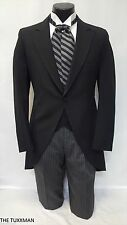 48 L Mens Black Cutaway Tuxedo Package Morning Coat Victorian Dickens Vintage