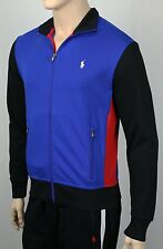 Polo Ralph Lauren Performance Royal Blue Full Zip Sweatshirt Track Jacket NWT