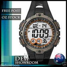 Timex Men's Marathon Black Resin Watch, Indiglo, Alarm T5K801 - Free Post in AU