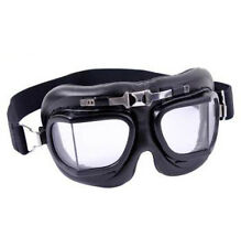 Rothco 10390 Black Replica Aviator Style Motorcycle Goggles Air Force WW1