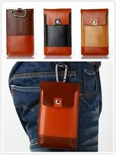 Leather Wallet Carry Pouch Sleeve Case Belt Clip Holster Cover For Cell Phones