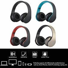 Foldable Wireless Stereo Bluetooth Headphone Headset Hands-free With Mic FM/MP3