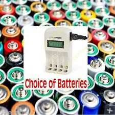 LLOYTRON 1 hour Fast LCD Battery Charger White CHOICE OF BATTERIES