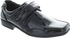 Rsb Roger Boy's Formal Patent Single Strap Square Toe School Shoes New