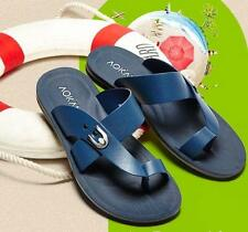 Men's summer beach sandals leather thong slipper flip-flops