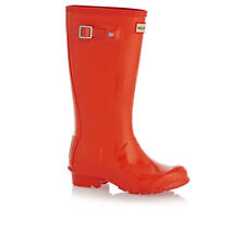Hunter Wellington Boots - Hunter Original Kids Gloss Wellington Boots - Tent Red