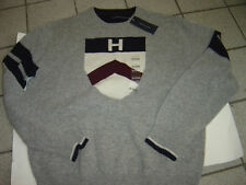 MENS TOMMY HILFIGER GREY LAMBSWOOL SWEATER  SIZE XL  $89