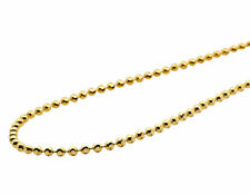 Solid 10K Yellow Gold Moon Cut Style Link Chain Necklace 1.5MM 18-30 Inches