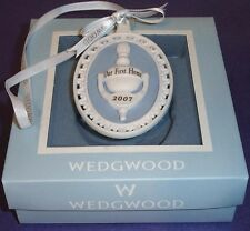 Wedgwood Our First Home Door Knocker Ornament 2007 Jasperware Blue/White New