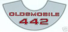 69 70 71 72 73 74   OLDSMOBILE 442  AIR CLEANER  DECAL