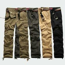 New Men's military outdoor overalls cargo loose pants trousers Carpenter 29-44