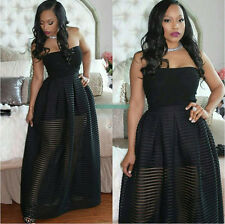 Sexy Women Strapless Long Evening Formal Party Cocktail Dress Prom Gown Dress