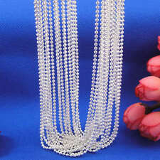 """Wholesale 10pcs 925 Sterling Silver Plt 1.5mm Ball Beads Chain Necklace 16""""-30"""""""