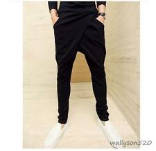 New Men's Pleated Black Baggy Loose Unique Casual Cool Harem Pants Long Trousers