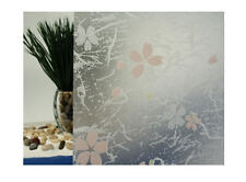 """Frosted Print Flowers Static Cling Window Film, 36"""" Wide x 25 ft"""