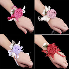 1pcs Perform Rose Hand Flower Wedding Bridal Corsage Party Prom Wrist Flower