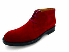 Tods Esquire Suede Red Mens Boots Shoes Tods 7.5 US 8.5 EU 41.5 Made in Italy