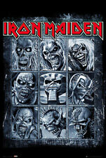 IRON MAIDEN - MUSIC POSTER / PRINT (COLLAGE OF 9 DIFFERENT EDDIES)