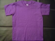 3 NEW SHAKA KIDS PLAIN V-NECK T-SHIRT PURPLE BLANK S-XL 3PC